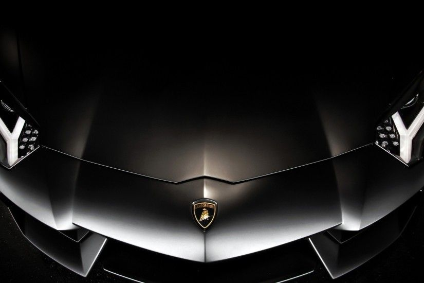 Lamborghini aventador black bonnet luxurious car expensive logo high  quality 1920x1080.