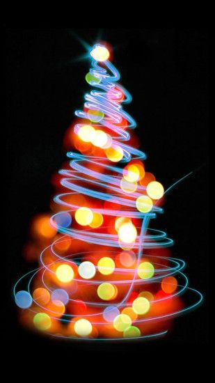 Glowing Lights Christmas Tree Sony Xperia Z2 Wallpapers