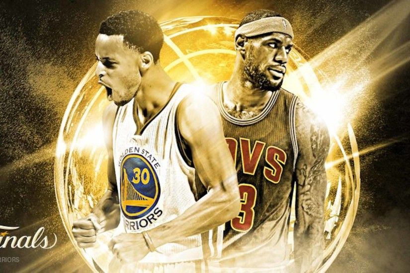 left: Current 2015 MVP Steph Curry faces 4-time MVP winner LeBron James in