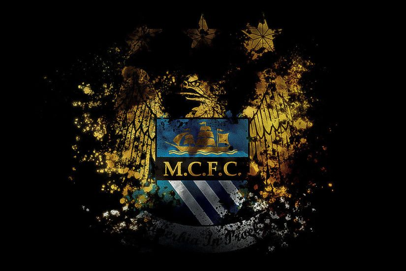 Manchester City Logo Wallpaper 1920 x 235 KB