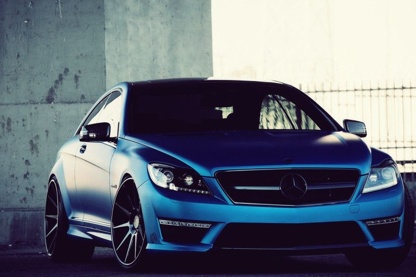Blue Mercedes Car Desktop Wallpaper