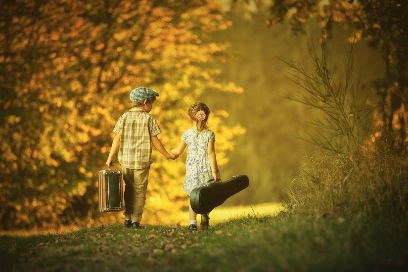 Boy and girl friendship cute wallpaper