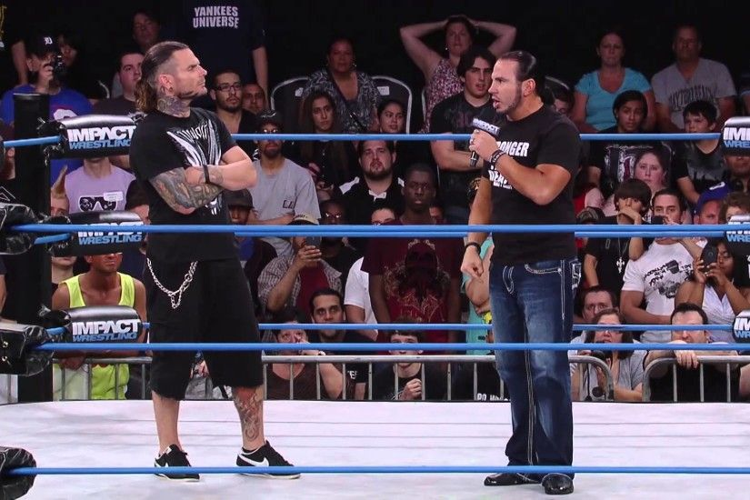 Matt Hardy Returns And Joins Jeff Hardy at IMPACT WRESTLING (July 24, 2014)  - YouTube