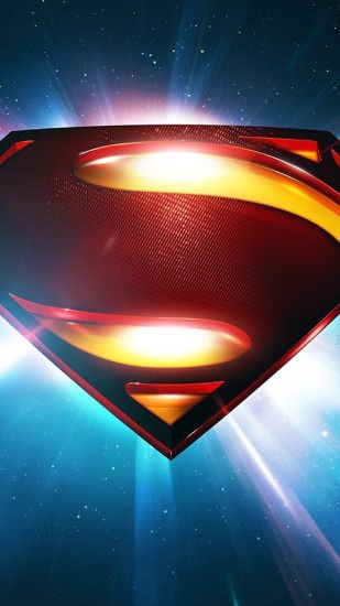 Superman Space Logo Man Of Steel iPhone 6 wallpaper