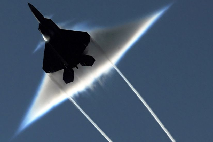 Military - Lockheed Martin F-22 Raptor Aircraft Cone Military F22 Wallpaper