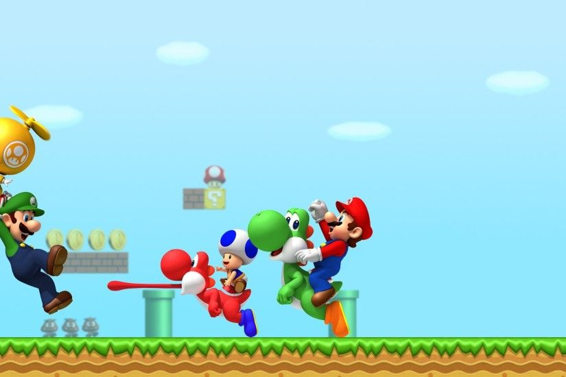Super Mario, Luigi, Yoshi, Toad (character), Video Games Wallpapers HD /  Desktop and Mobile Backgrounds