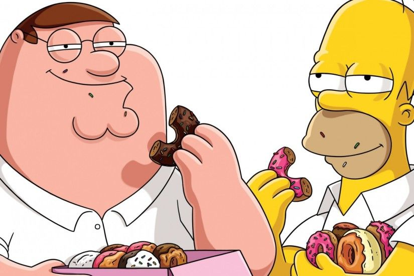 Preview wallpaper peter griffin, family guy, matt groening, the simpsons  3840x2160