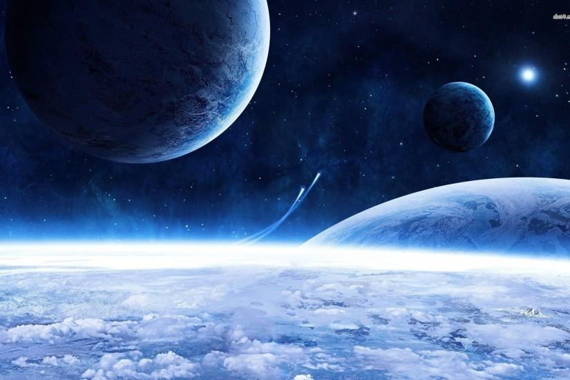 Blue space wallpaper - Fantasy wallpapers - #8118