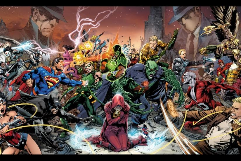 Comics - Trinity War Wonder Woman Superman Green Arrow Aquaman Wallpaper