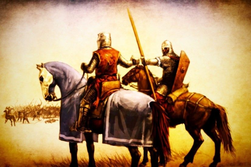 medieval knights horse battle warrior artwork spear Wallpaper HD