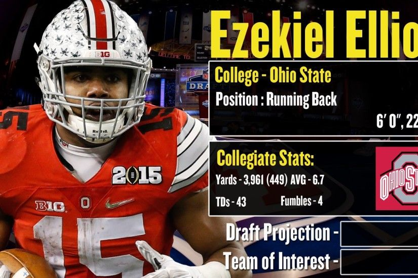2016 NFL Draft Profile: Ezekiel Elliott - Strengths and Weaknesses +  Projection!