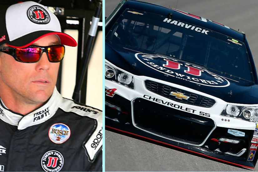 Kevin Harvick and his car (Getty Images)