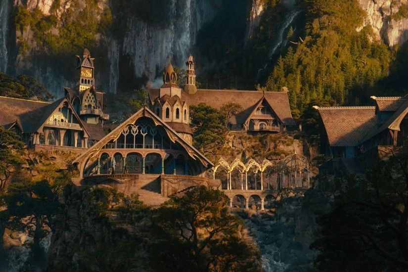 Rivendell the lord of the rings movie hd wallpaper backgrounds.