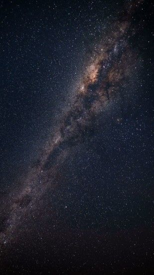 2160x3840 Wallpaper starry sky, milky way, astronomy, galaxy