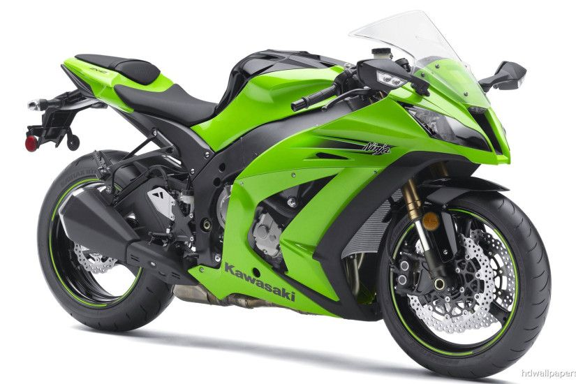 Green Kawasaki Ninja ZXr HD Wallpapers in HD