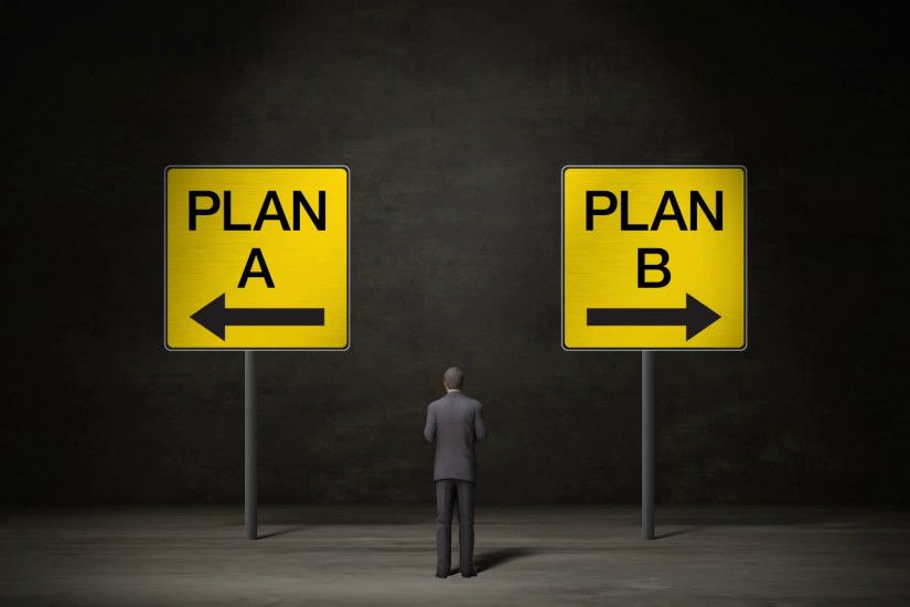 Businessman choose 'Plan A' arrow or 'Plan B' arrow. decided ways. makes  decision. Motion Background - VideoBlocks