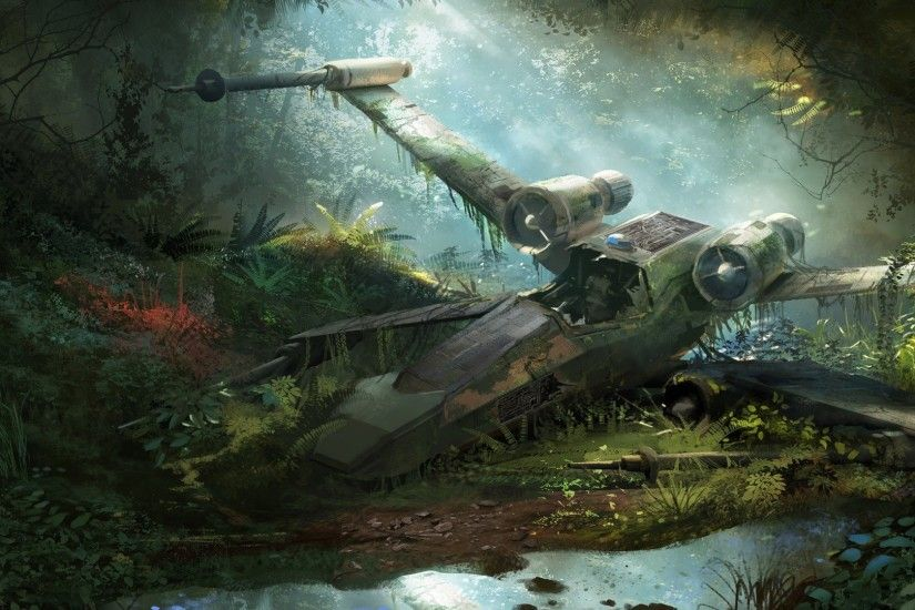 Sci Fi - Star Wars Wreck X-Wing Wallpaper