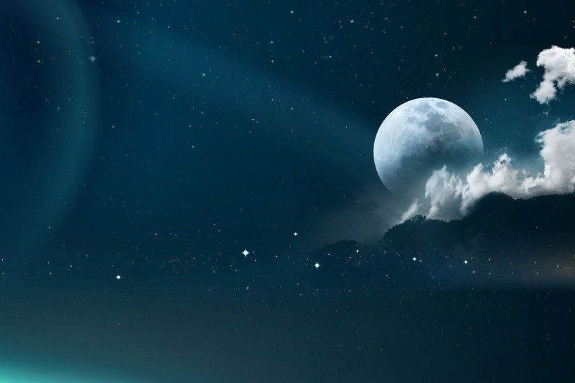 ... moon and stars wallpaper 1497 ...