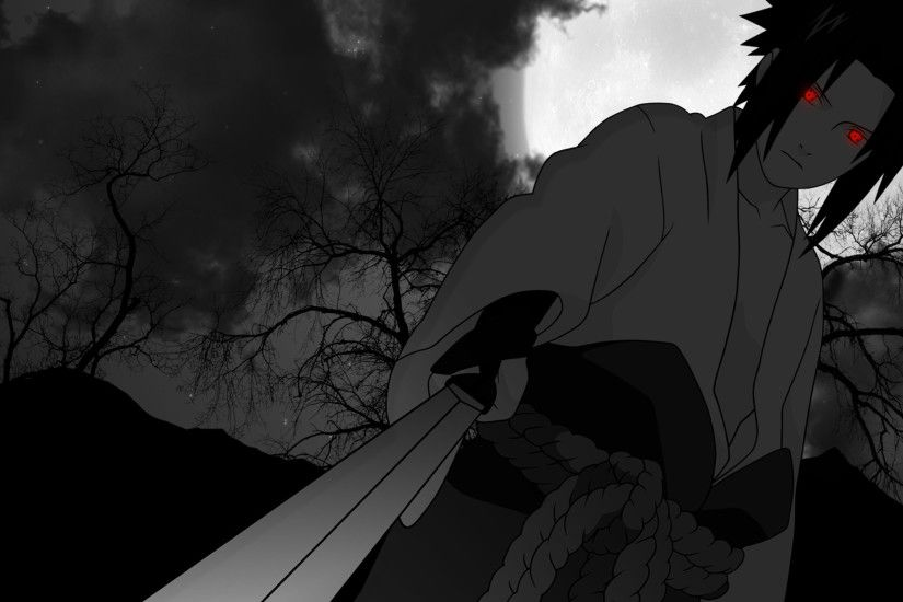 sasuke uchiha sharingan eyes sword wallpaper 1920x1200