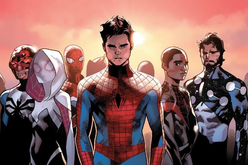 General 1920x1080 comic books Marvel Comics Spider-Man Spider-Gwen Miles  Morales Cosmic Spider