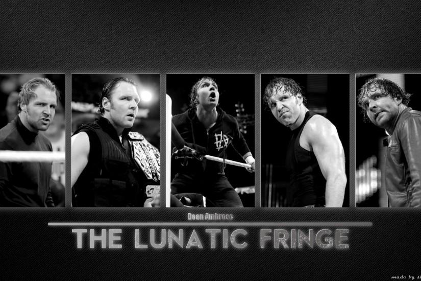 Dean Ambrose - The Lunatic Fringe Black and White by SkarrDWar