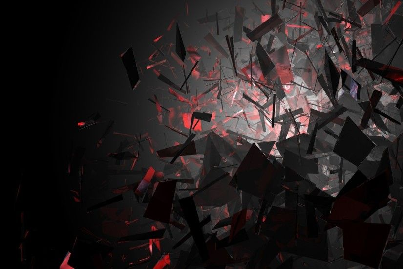 Wallpaper Black and Red Shapes - HD Wallpaper Expert