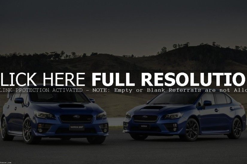 2015 SUBARU WRX STI WALLPAPER COLLECTION