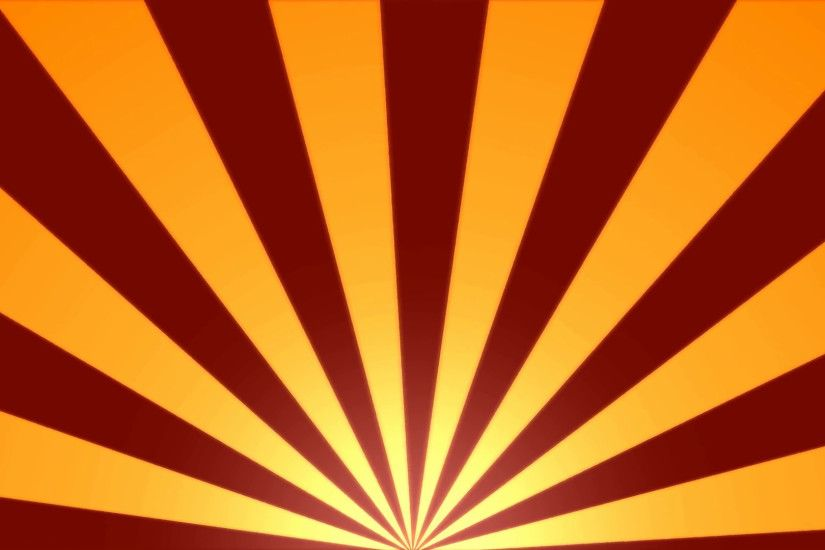 Rotating Stripes Background Animation - Loop Red Orange