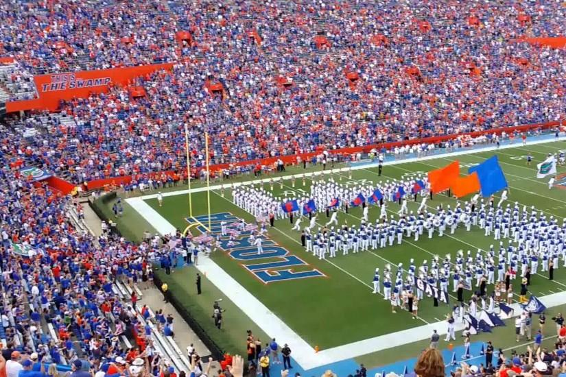 The Florida Gators take the field!