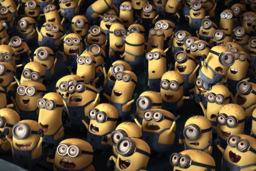 Despicable Me - Minion Crowd HD Wallpaper » FullHDWpp - Full HD .