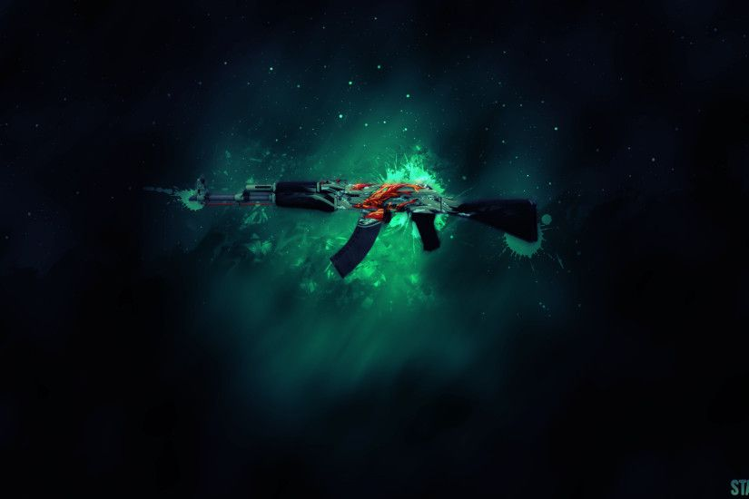 AK47 Aquamarine Wallpaper by StayWeedMe AK47 Aquamarine Wallpaper by  StayWeedMe