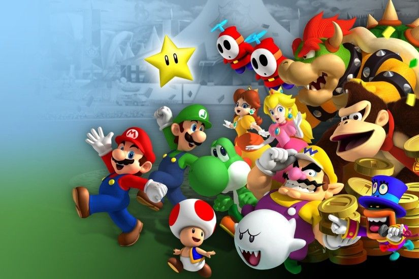 Mario Bros., Luigi, Princess Peach, Yoshi, Wario, Donkey Kong, Toad  (character), Video Games, Nintendo, Mario Kart 8 Wallpapers HD / Desktop  and Mobile ...