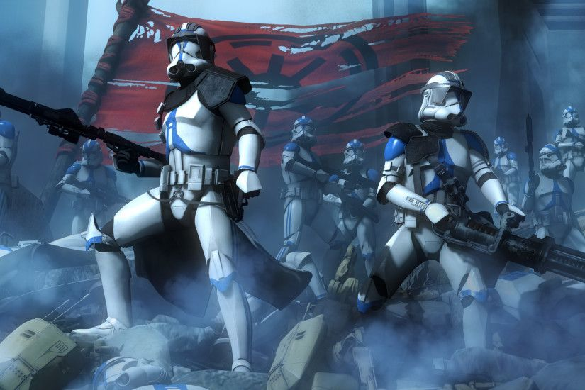 Movie - Star Wars: The Clone Wars Star Wars Scout Trooper Weapon Wallpaper