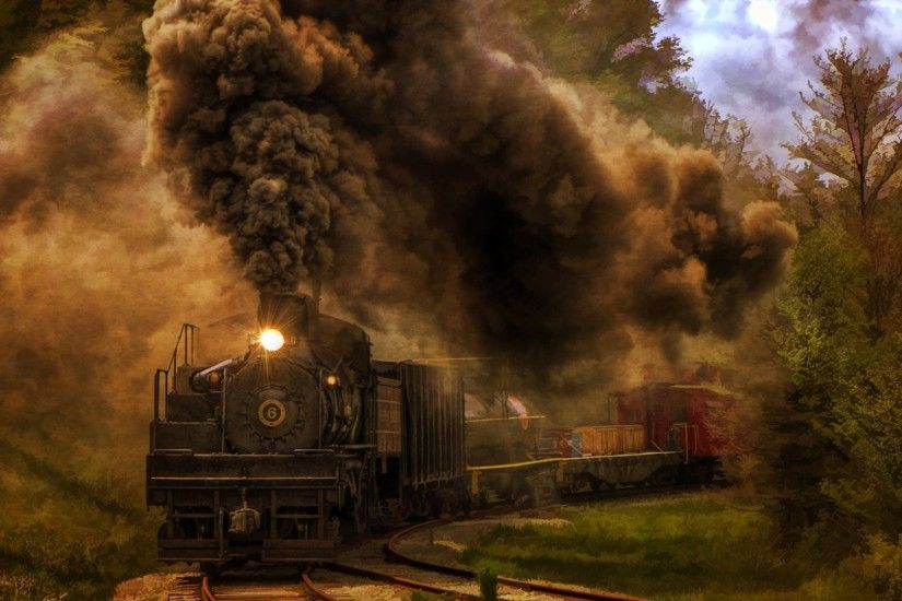... Good High Resolution Wallpaper's Collection: Steam Train .