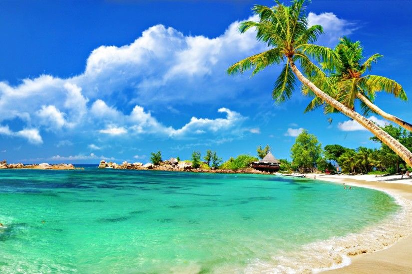 Beautiful Tropical Beaches Wallpaper Background 1 HD Wallpapers .