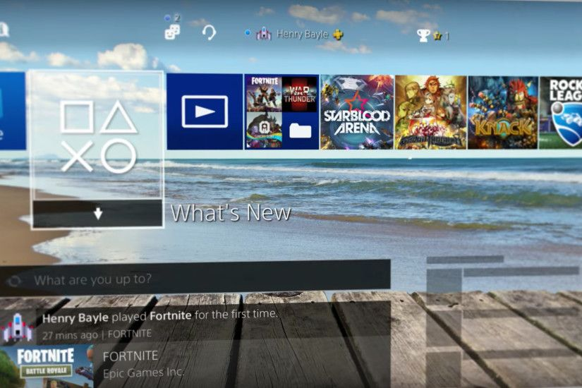 You can now choose any image for your PS4 wallpaper