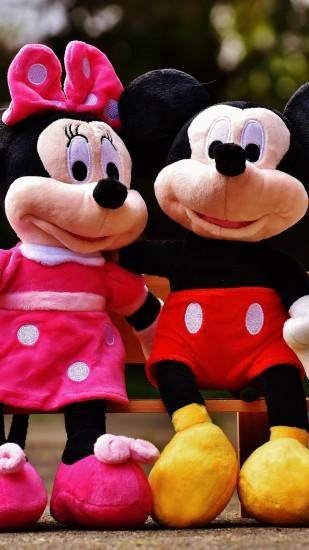 Preview wallpaper mickey mouse, minnie mouse, mouse, toys 1440x2560