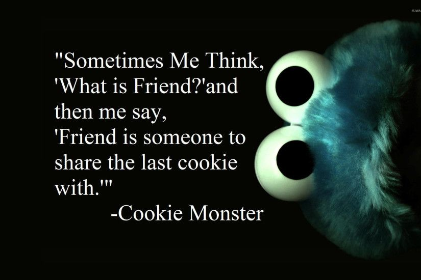 Cookie Monster about friends wallpaper 1920x1200 jpg