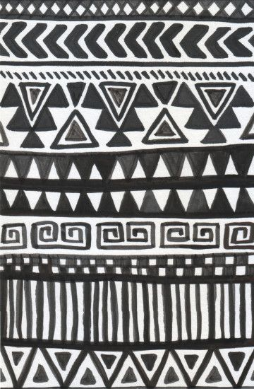 iphone wallpaper // black and white tribal print