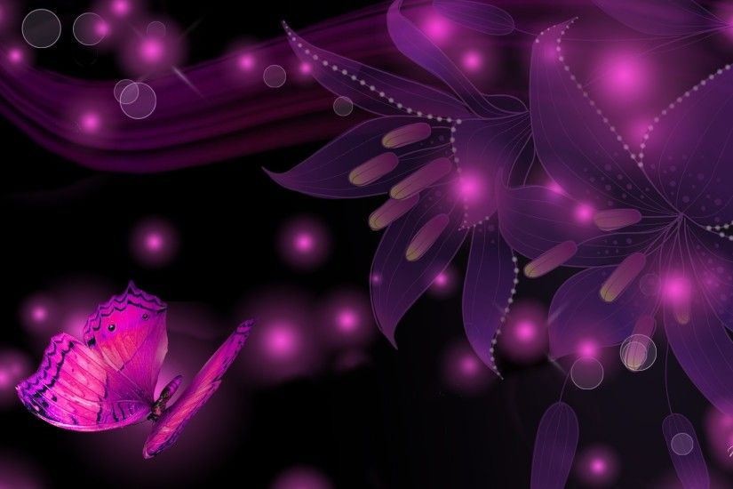 Pink And Black Butterfly Wallpaper - Wallpapers High Definition