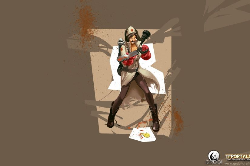 TF2 Girl Medic Wallpaper. 1920x1080