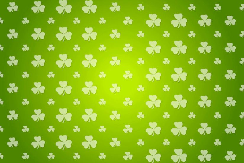St. Patricks Day green pattern with shamrocks clover. Seamless looping.  Video animation HD