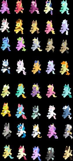 ... MLP FIM Background Pony Plushies by The-Clockwork-Crow