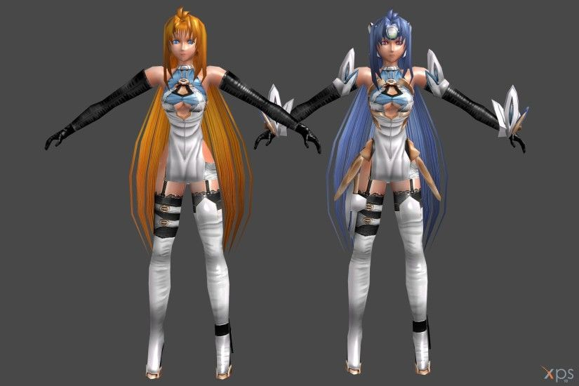 ... 'Xenosaga' KOS-MOS and Elly poseable by lezisell