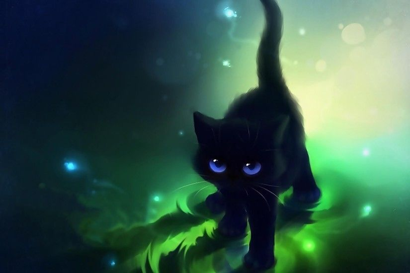 Images For > Cute Anime Cat Wallpapers