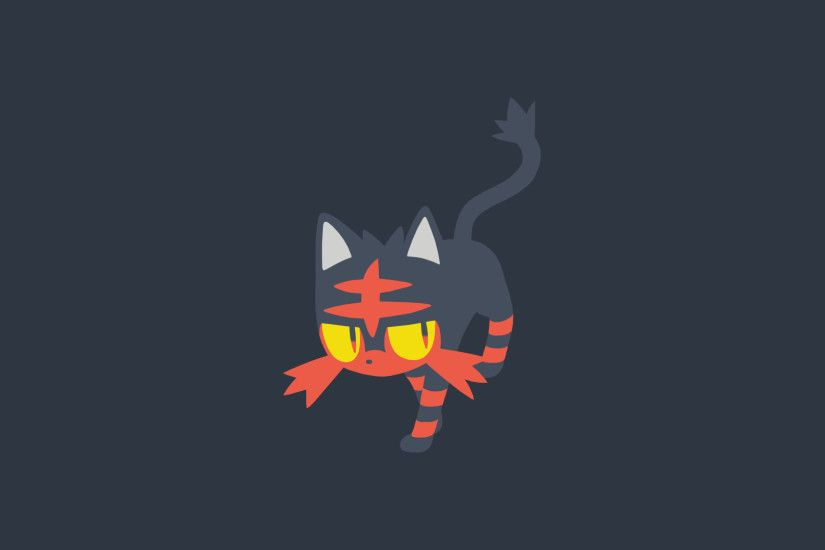 Minimalistic Wallpaper: Litten (#725) by MardGeerT