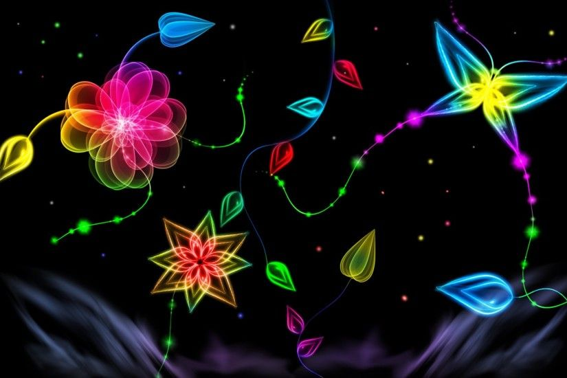Animal Wallpapers | Neon Butterfly Desktop Background wallpapers .