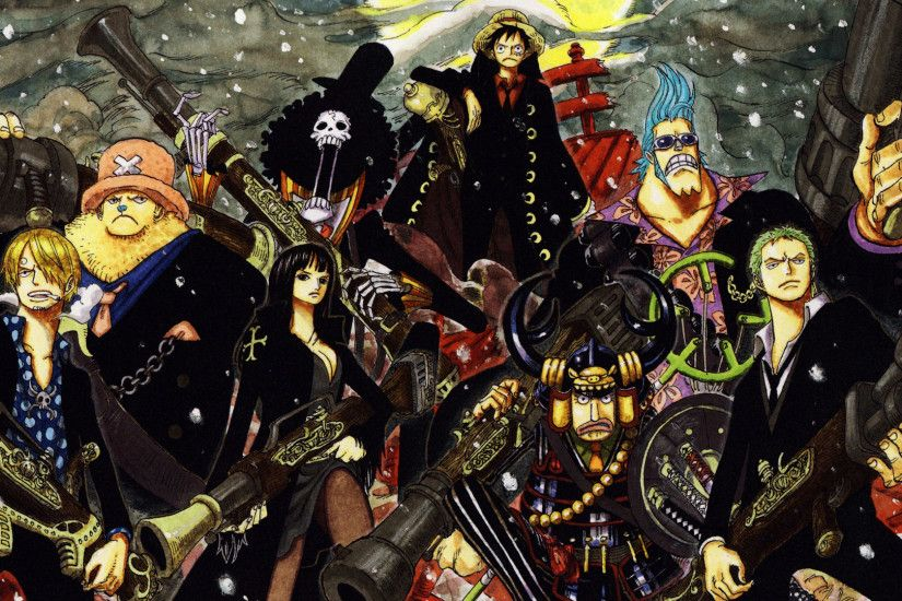 One Piece Crew Of Straw Hat Anime Manga HD Wallpaper Widescreen