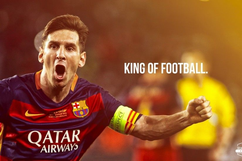 Messi king of football wallpaper