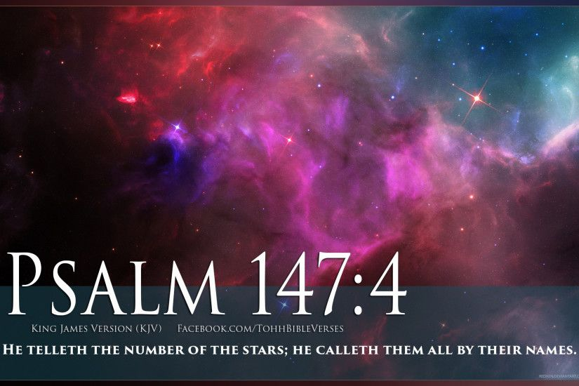 Pictures with Bible Verses On Them | Bible Verse Psalm 147:4 Stars In Space